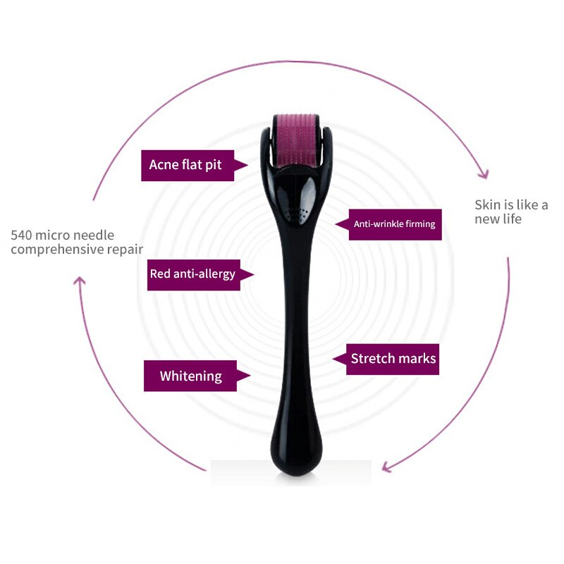 DRS 540 derma roller micro needles titanium microneedle mezoroller machine for skin care and body treatment 01