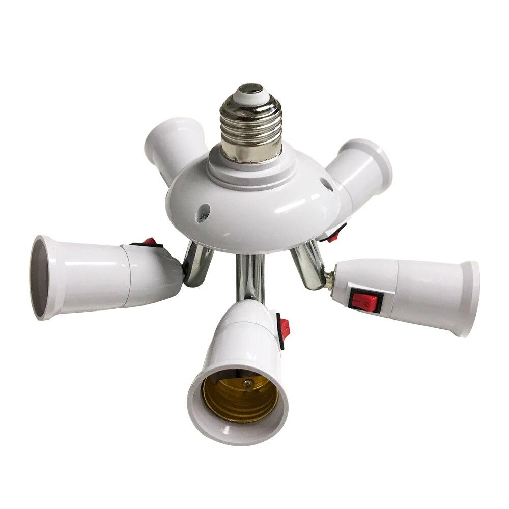 Divisor de lâmpada e27 com interruptor, base de lâmpada led ajustável, suporte de lâmpada, adaptador, conversor soquete, suporte de lâmpada