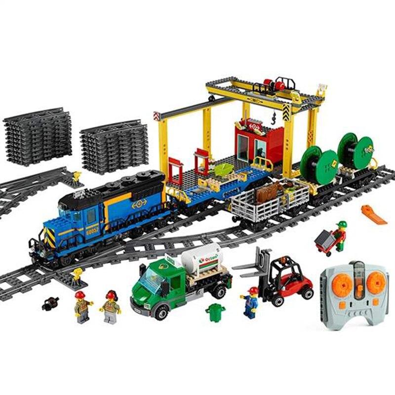 KING 8200 02008 City Train Series The Cargo Trai Set Playmobil Building Blocks Bricks Toys As Gifts 3250PCS