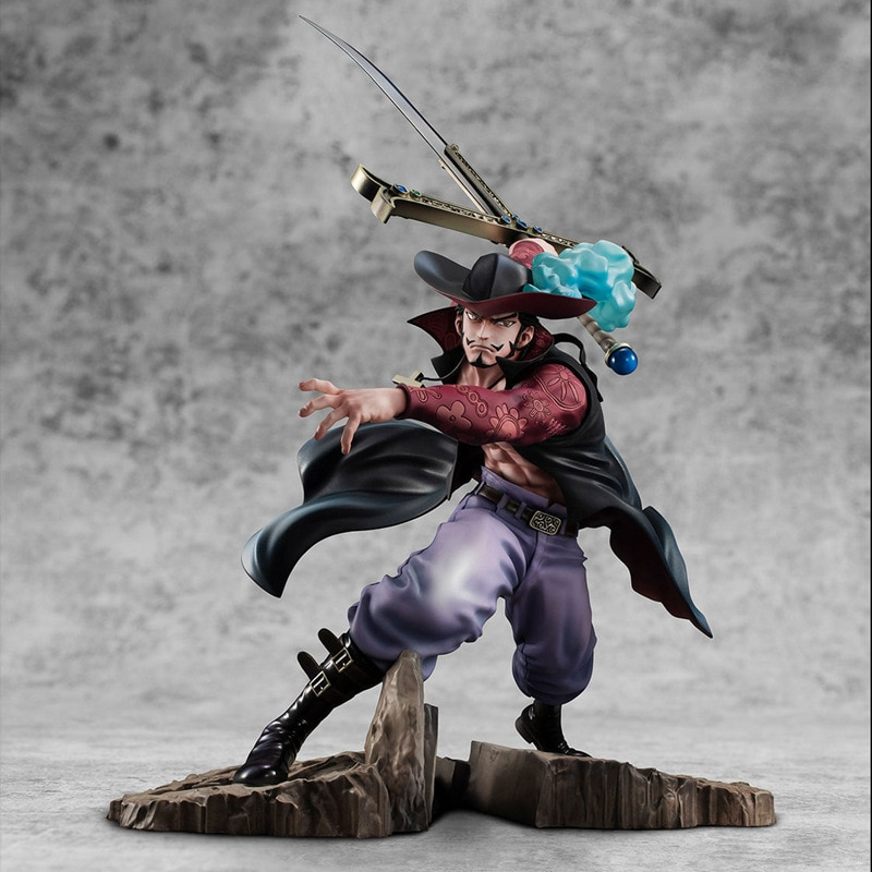 34cm new anime one piece Dracule Mihawk figurine Combat ver. PVC Action Figure Collection Model Toys Gift for kids 15cm anime one piece figure combat version marshall d teach figure toys collection pvc action figure one piece toys model gifts