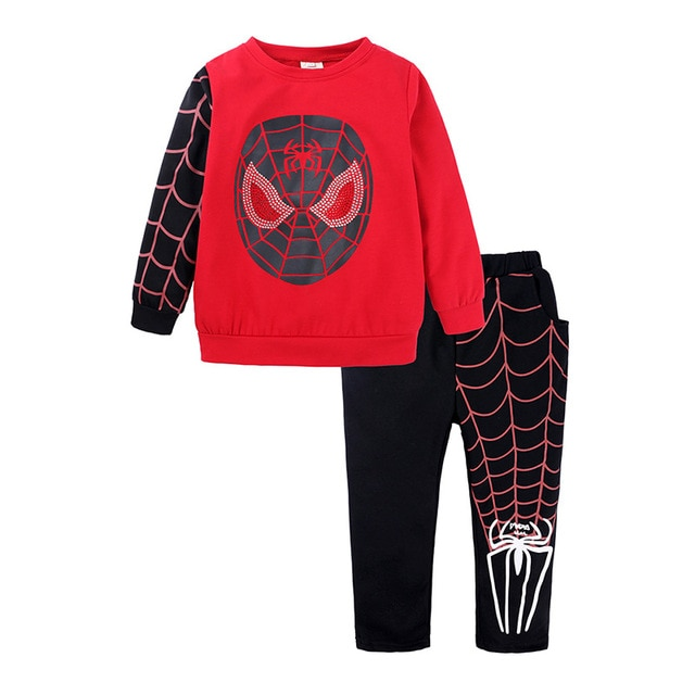 Shangku Kids Boy's Suit New Style for Autumn and Winter Cartoon Chao Man Spider Xia Children's Clothes 8