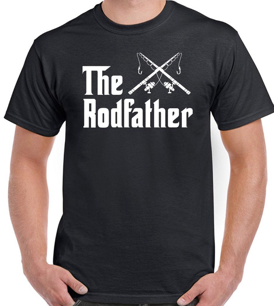 Camiseta divertida Rodfather para hombre, camiseta de pesca con caña, caña de pescar, camiseta Cool Casual pride, camiseta Unisex de moda para hombres, Envío Gratis