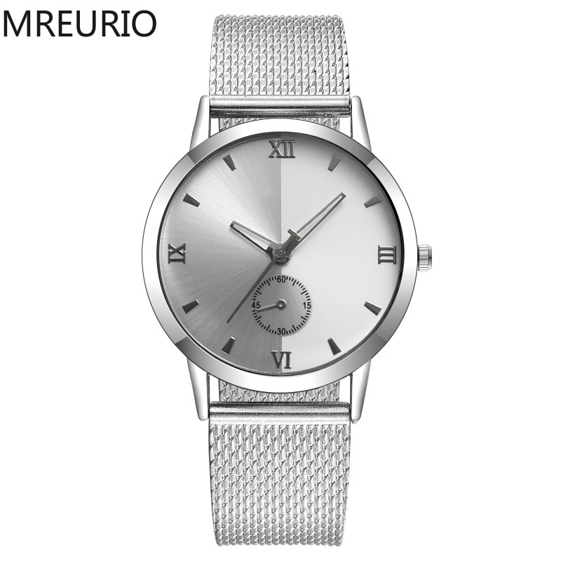 MREURIO Masculine Men's Watch Single-Eye Watch Romen Numerals Plastic Milan Mesh Band Quartz Watch for Men Retro Simple Watch enlarge