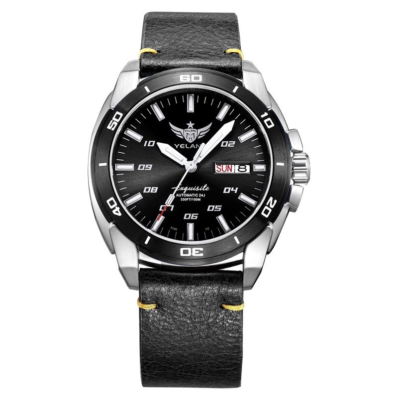 Reloj de muñeca tritium para hombre, relojes militares automáticos para hombre YELANG man T100, reloj de pulsera mecánico deportivo luminoso, resistente al agua de lujo