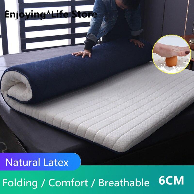 مرتبة إسفنجية لاتكس قابلة للطي ، سرير كوين/كينج/مزدوج/كامل الحجم ، حصير ، سمك 6 سنتيمتر/9 سنتيمتر