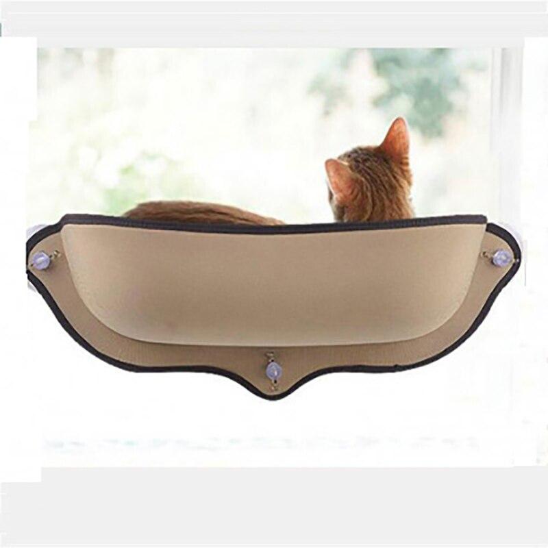 Nueva hamaca de gato cama de succión ventosa ventana colgante cama caliente para descanso de gatos y mascotas Casa de sol cama de pared jaula de hurón suave al por mayor
