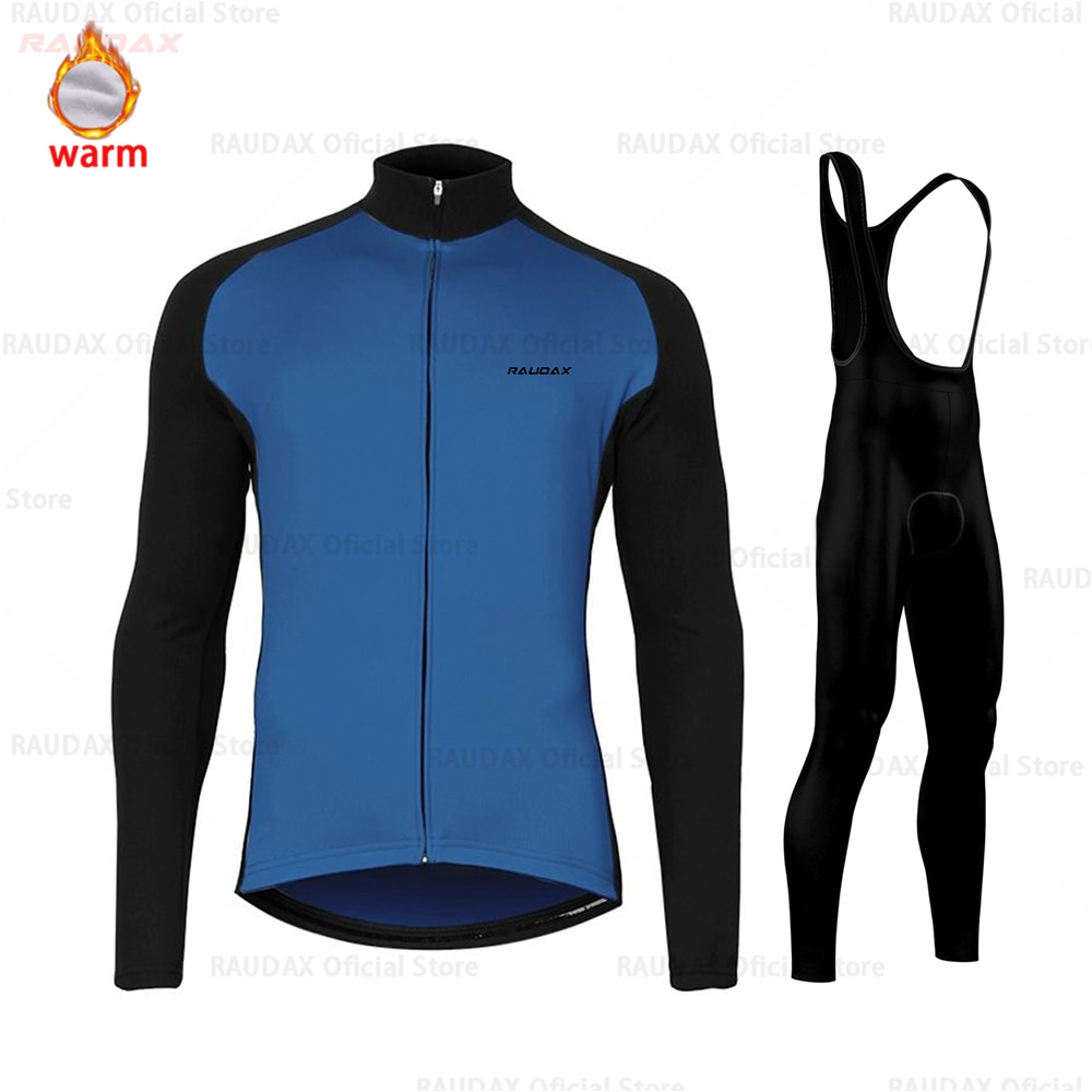 Conjunto de Jersey de Ciclismo para Hombre, ropa térmica larga de lana...
