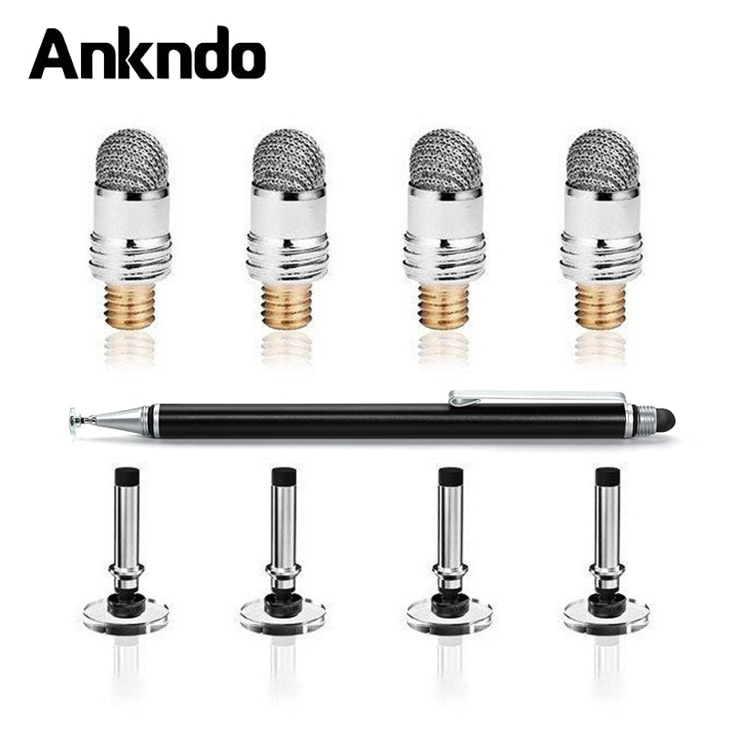 ANKNDO Stylus Pen Conductive Touch Sucker Tablet Pen Touch Cloth Head Laptop Pen Accessories Screen Pen Head Stylus Accessory