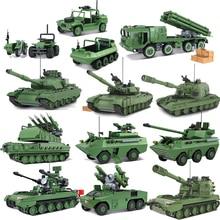 QWZ 대형 기갑 탱크 빌딩 블록 군사 육군 생성자 벽돌 교육 완구 어린이 선물 용품
