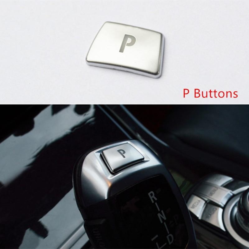 Pegatinas de decoración de botón de aparcamiento Gearshift para BMW X5 X6 E70 E71 F15 F16 X3 X4 F26 F25, accesorios para automóviles