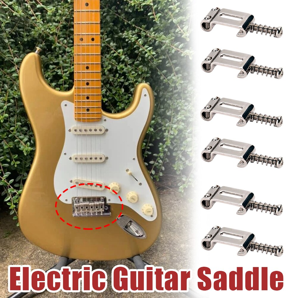 6 Roller Vibrato Bridge Pull String Code Electric Guitar Saddle with Rollers for the Stratocaster Telecaster Guitar Accessories tooyful black 6 saddle guitar pickup bridge with 6 vintage string guides for fender telecaster tele tl electric guitar parts