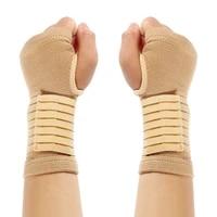 2pcs1 pair elasticity wrist bandage support sportswear arthritis band belt outdoor carpal tunnel hand brace accessories