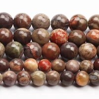 natural gemstone round beads loose beads for diy jewelry making bracelet necklace flower agate stone beads