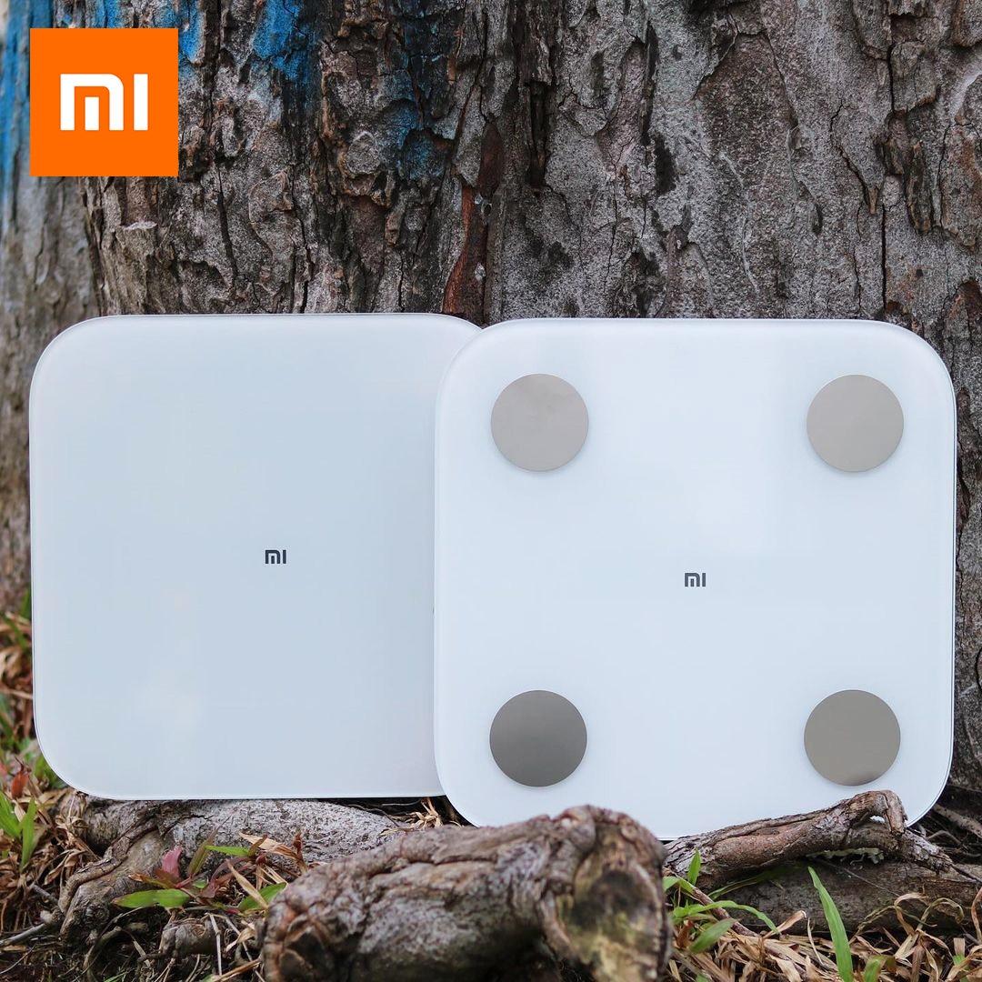 Xiaomi الذكية تكوين الجسم الدهون مقياس 2 بلوتوث اختبار التوازن 13 التاريخ الجسم BMI الصحة مقياس الوزن LED عرض الأصلي مي