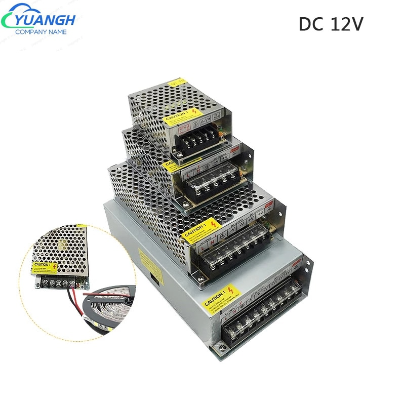 DC 12 V Volt LED Power Supply 5A 10A 15A 20A DC 12V LED Driver Adapter For led strip Lighting Transformers enlarge
