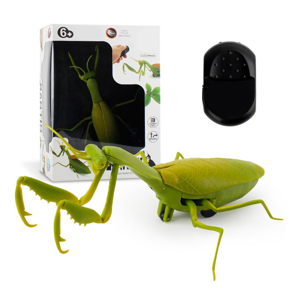 2Pcs/Set Simulation Remote Control Mantis Insect Lighting Kids Model Toy Kids Children Party Joke Prank Props Pet Toys Gifts недорого