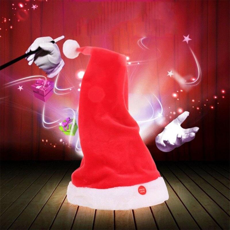 Adornos navideños para el hogar Swing Navidad cantar música bailando Navidad sombrero...