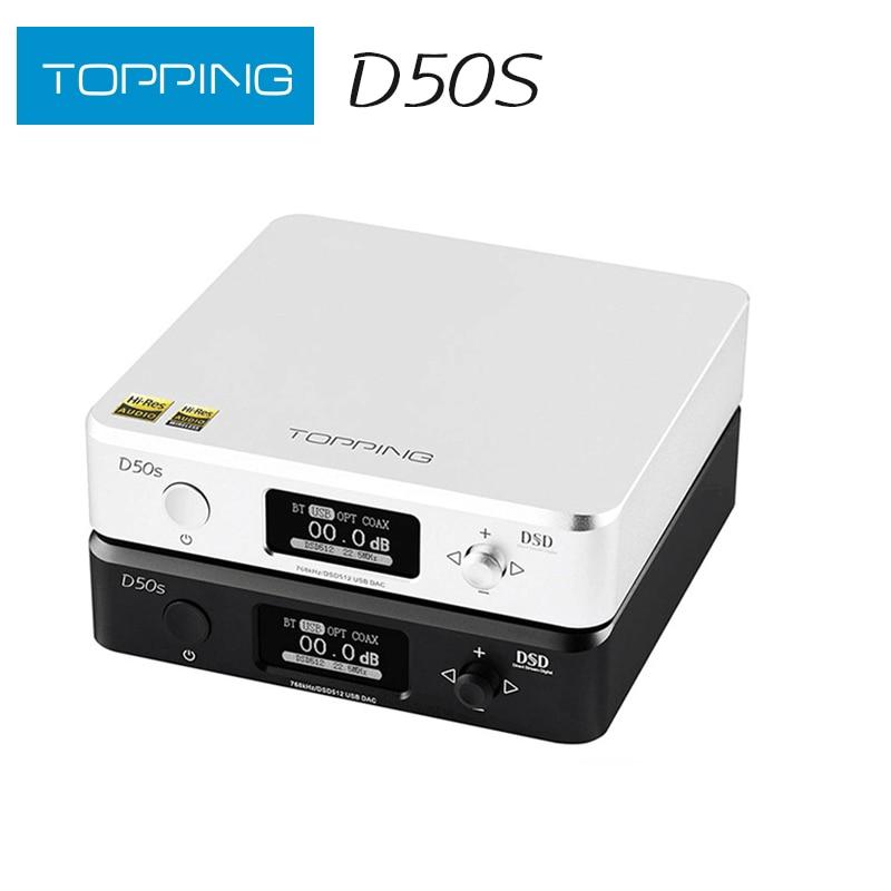 Hi-Fi декодер TOPPING D50s ES9038Q2M * 2, DAC, Bluetooth 5,0, LDAC, D50, DSD512, 32 бит/768 кГц, Hi-Res аудио