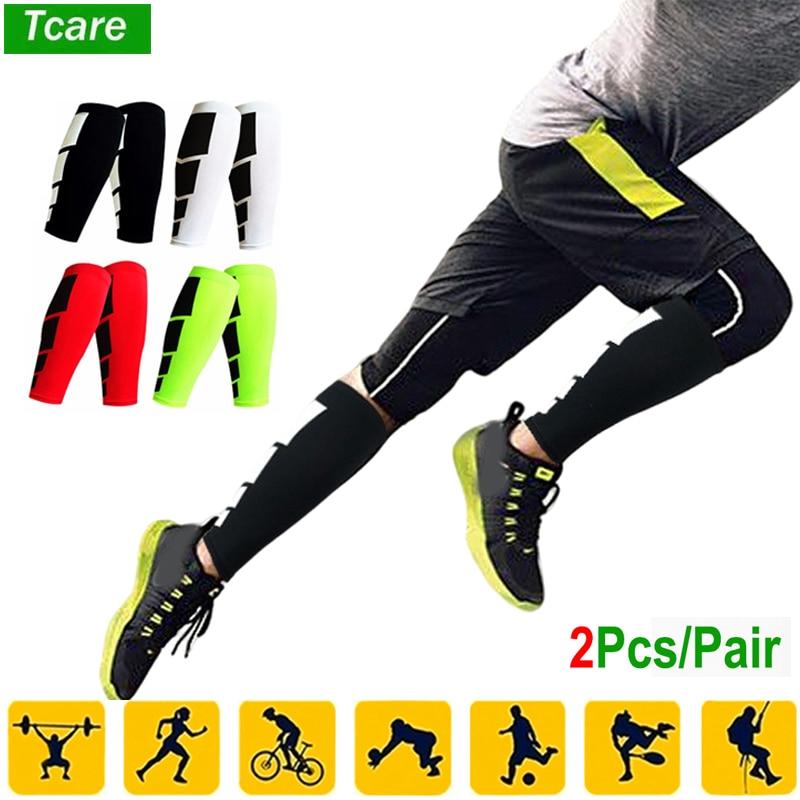 Tcare 2Pcs/Pair Super Elastic Lycra Basketball Leg Warmers Calf Compression Sleeve Knee Brace Leg Knee Protector Gear for Unisex