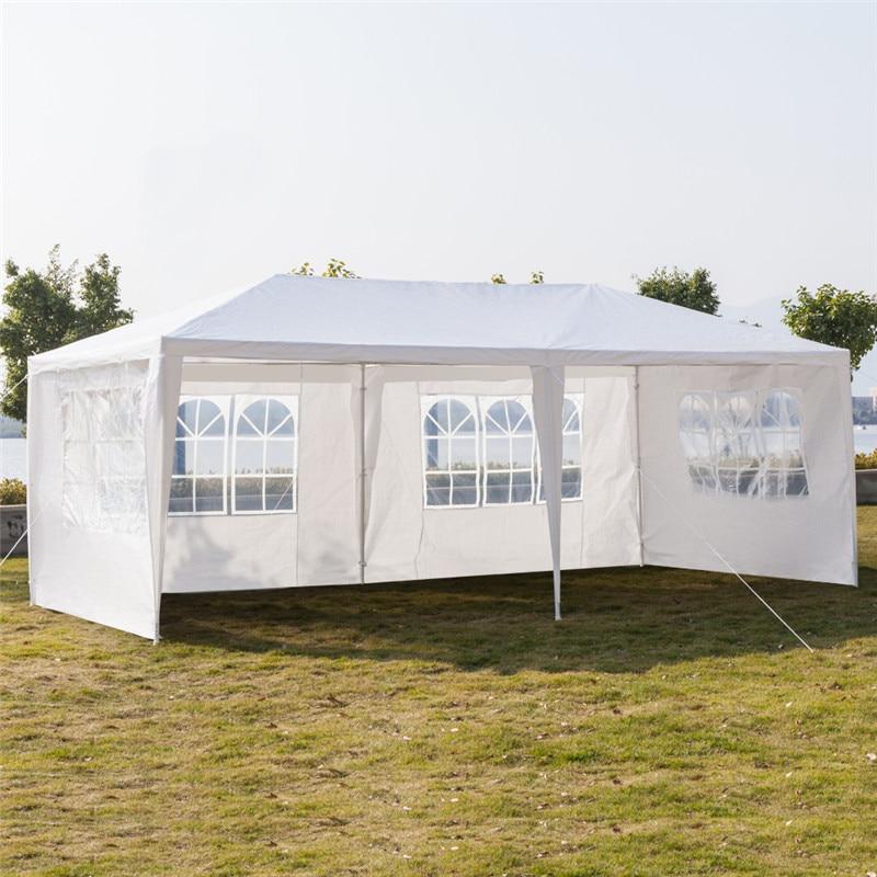 10 \'x 20\' خيمة لحفلات الزفاف في الهواء الطلق مظلة مضادة للماء المظلة مع الجدران الجانبية القابلة للإزالة الحديد أنبوب البولي ايثيلين القماش الب...