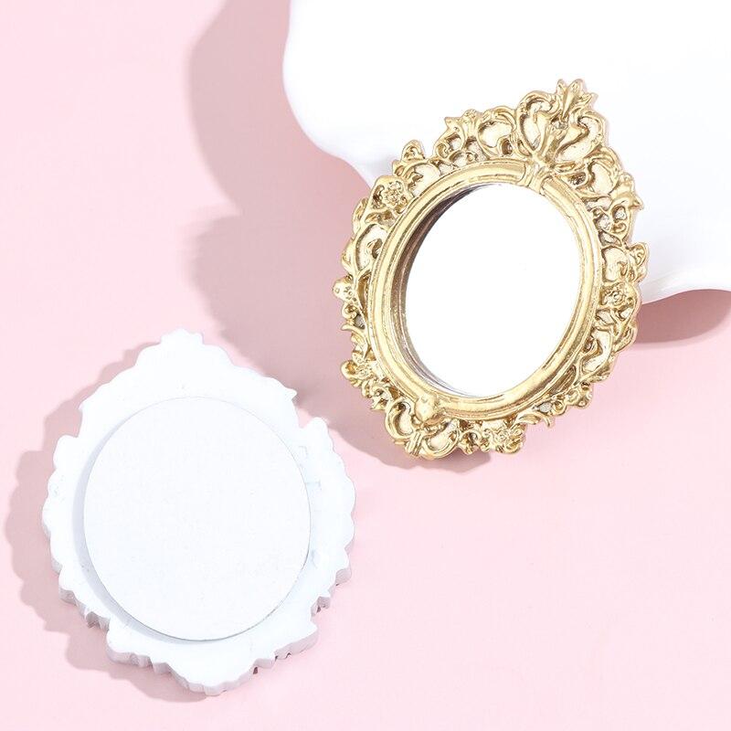 1 шт. миниатюрное зеркальное настенное зеркало для украшения кукольного домика Новая рамка для кукольного домика аксессуары мебель