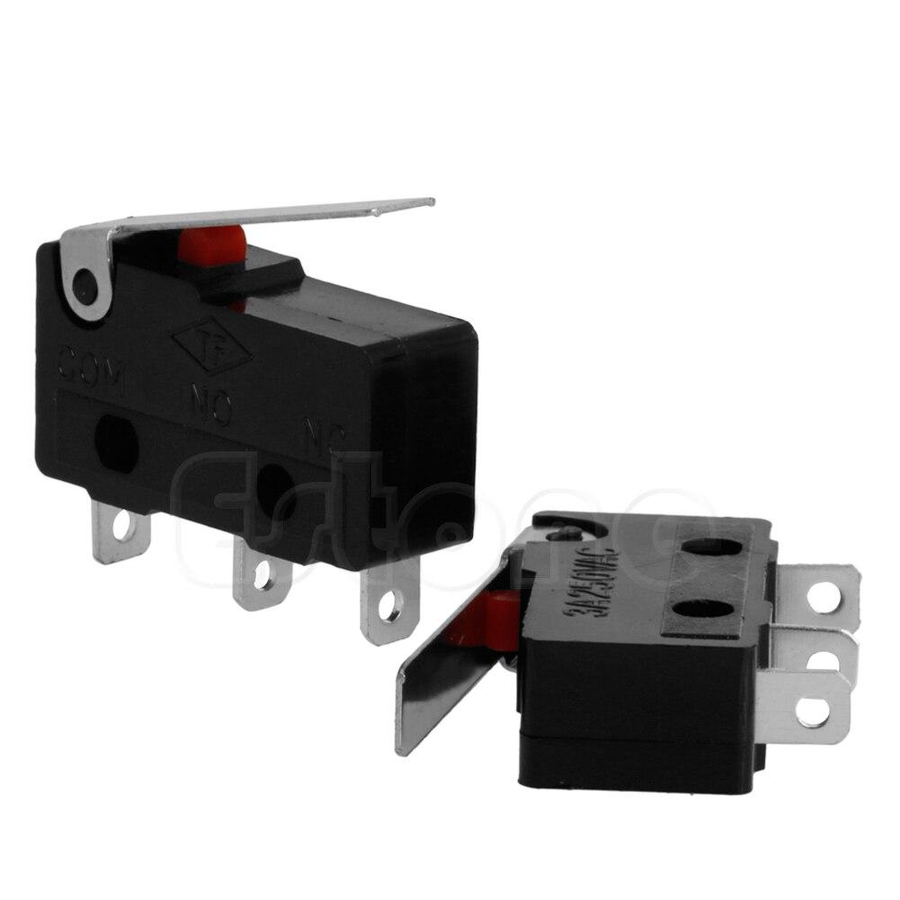 2 uds. 3A AC C + NO + NC Micro Sensor, interruptor de límite, palanca de brazo de rodillo subminiatura