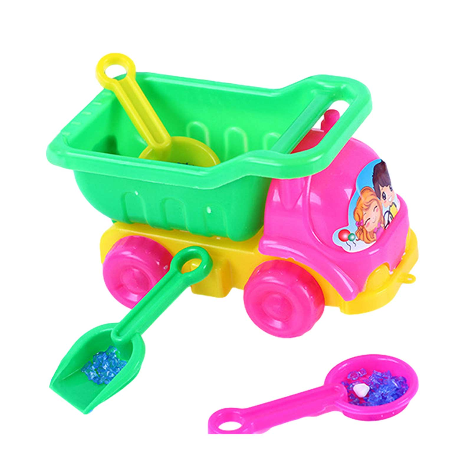Mini Beach Dump Truck Kids Sand Toy Truck Construction Vehicle Toy Children's Dredging Tool For Boys And Girls Outdoor Gifts