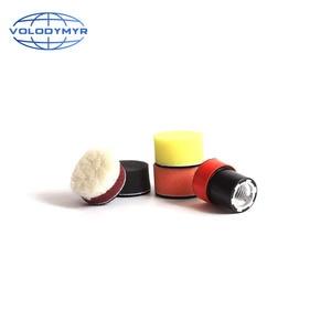 Image 5 - Набор для полировки дрели, полировальная Подушка 1, 2 или 3 дюйма, включает в себя красную губку для обработки воском, автомобильный буфер, полировщик для полировки