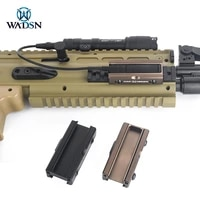 wadsn tactical picatinny switch slot mount pocket panel for m300 m600 flashlight dabl a2 peq15 tail swtich hunting weapon light