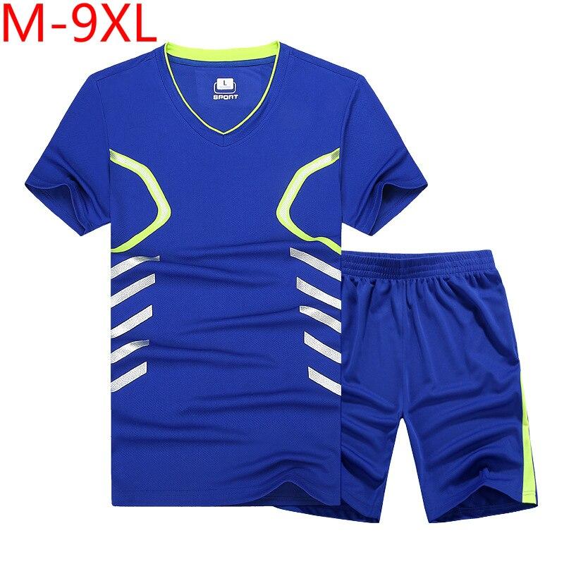 Summer New Mens Shorts Casual Suit Sportswear Tracksuit Men Sets Pants Male Sweatshirt Men Brand Clothing Plus Size 7xl 8xl 9xl