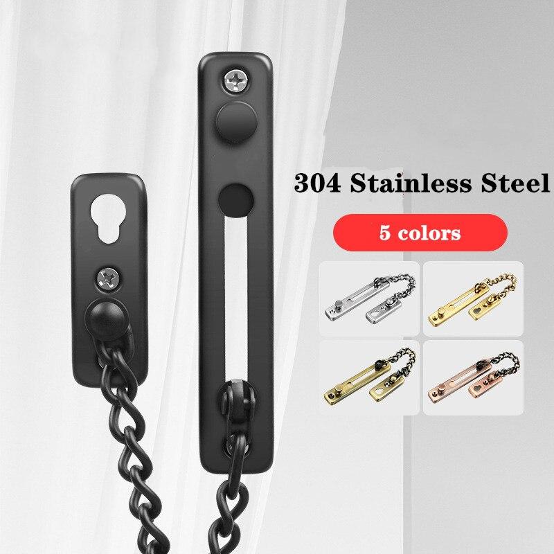 Door Chain  Spring Bolt  Door Security Latch  Latch Spring Barrel Bolt  Door Latch  Door Security Bar  Stainless Steel Latch