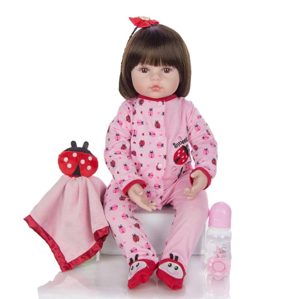 Muñecas de tamaño grande de 60cm y 6-9 meses, muñecas de niño niña Reborn, muñecas de juguete de bebé renacido realista, 100% hechas a mano