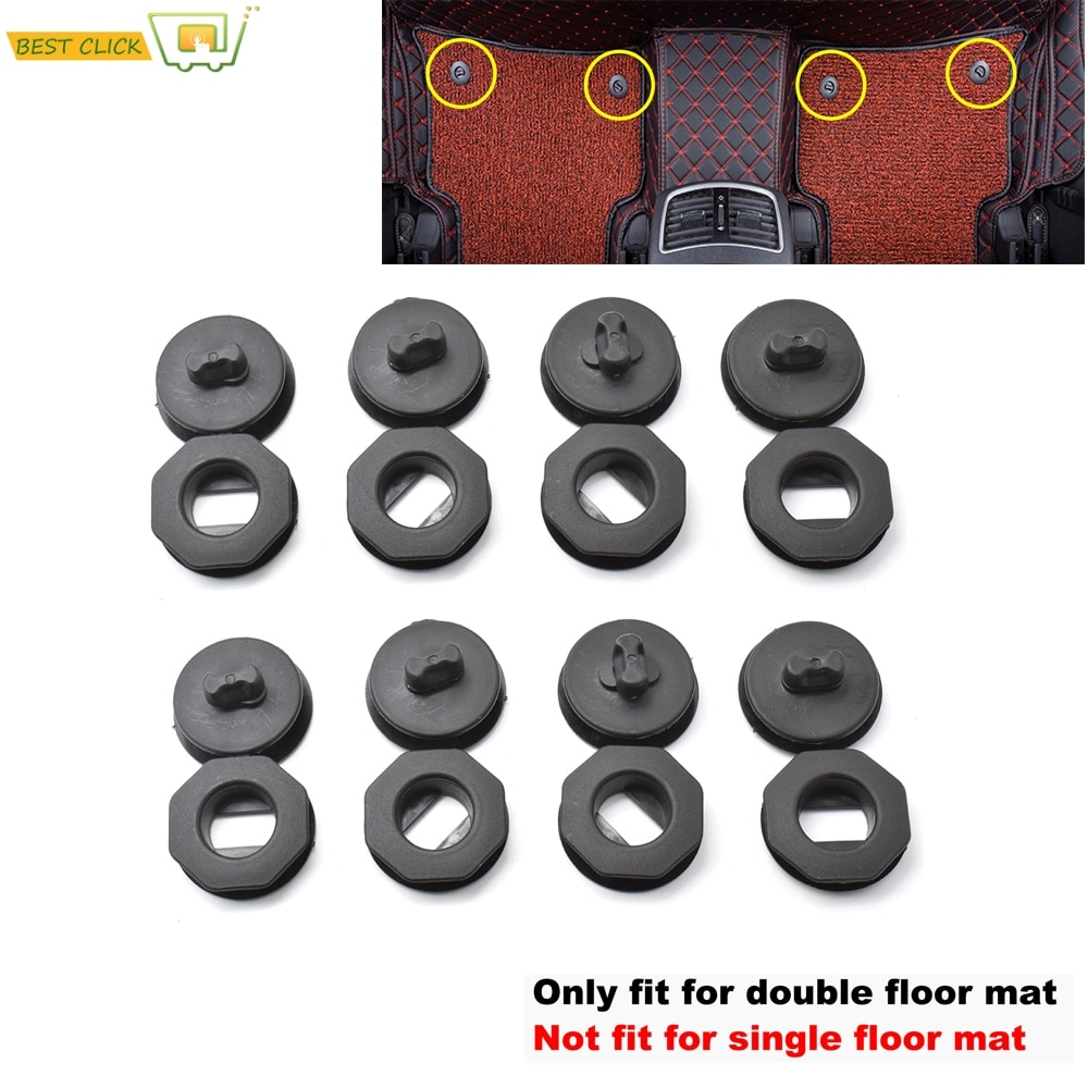 8x Universal Car Floor Mat Clips Holders Sleeves Black Auto Carpet Fixing Grips Clamps Car Accessories