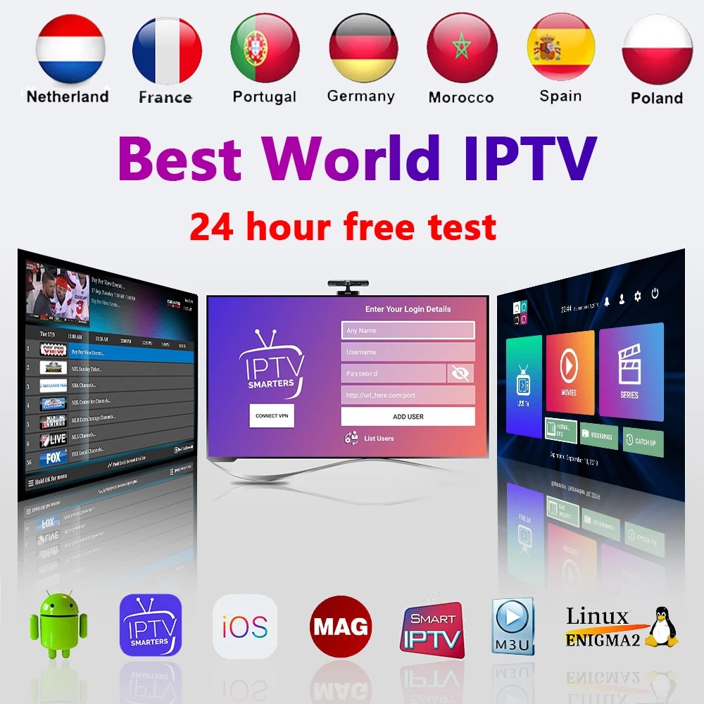 IPTV4K 3 6 12MONTH  M3U 4K  MAG ANDROID CABLE  HOT SELL EUROPE ITALY NETHERLAND SPAIN PORTUGAL ARABIC TURKEY POLAND