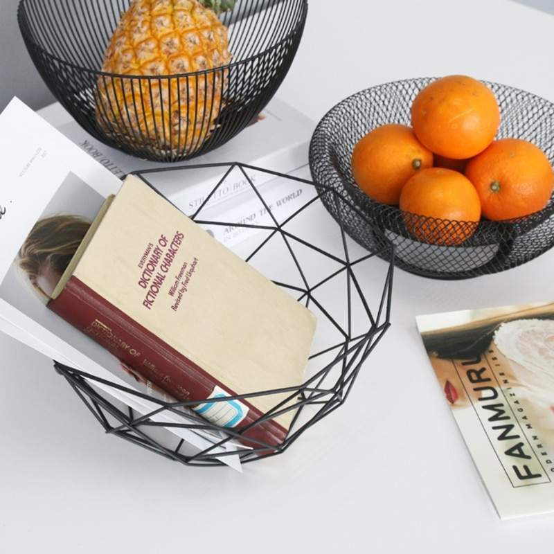 Metal fruta vegetal Bol para almacenar huevos de cocina soporte de canastos minimalismo nórdico A69D