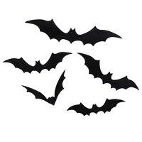 12 pieces ensemble 3D noir PVC chauve-souris bricolage decor autocollant mural Halloween fete barre decalcomanies maison deco