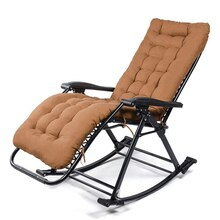 Bequeme Entspannen Schaukel Stuhl Klapp Lounge Stuhl Entspannen Stuhl mit Baumwolle Stoff Kissen Nickerchen Liege 250kg Lager