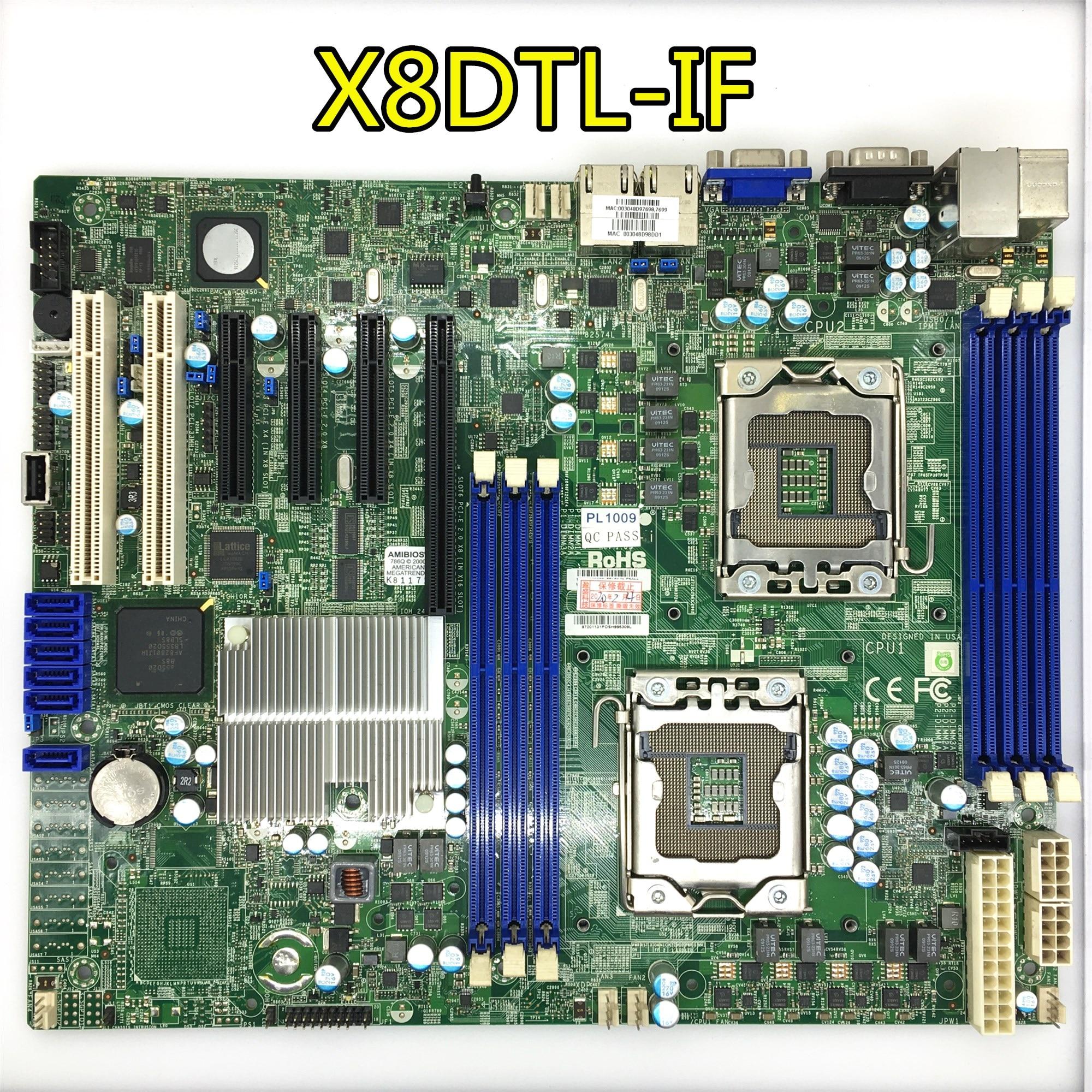 قبل شحنة اختبار ل سوبرمايكرو X8DTL-i/إذا الخادم الأصلي تستخدم اللوحة