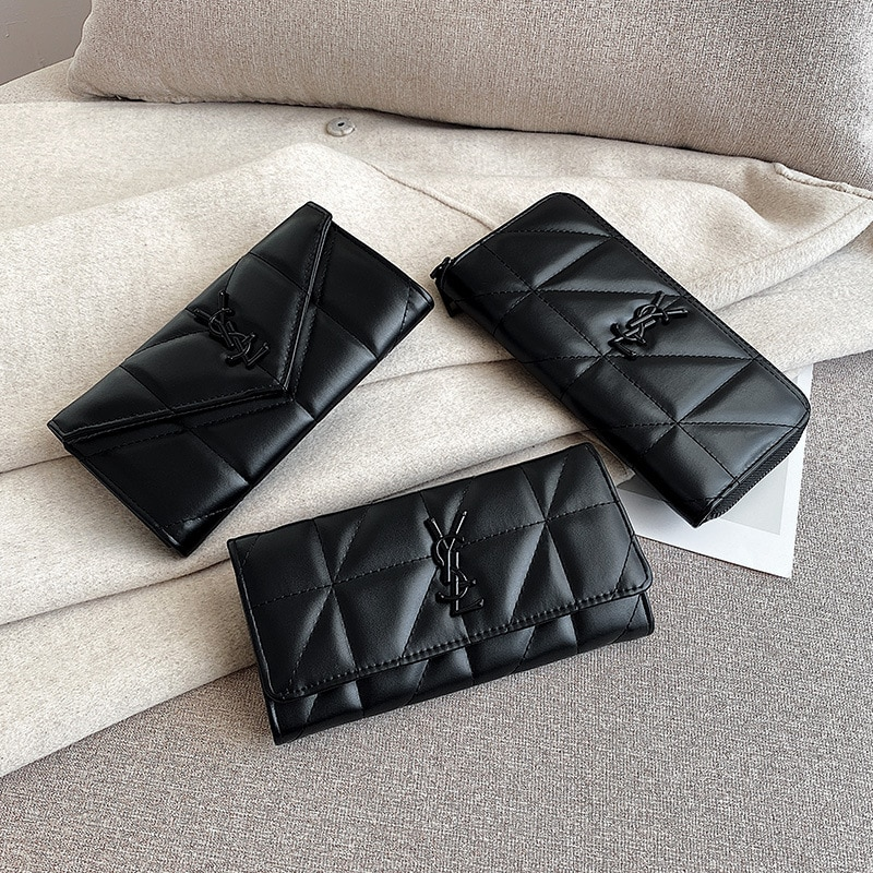 New women's wallet women's long net Hongling Geka bag 2021 women's fashion zipper mobile phone change handbag wallet