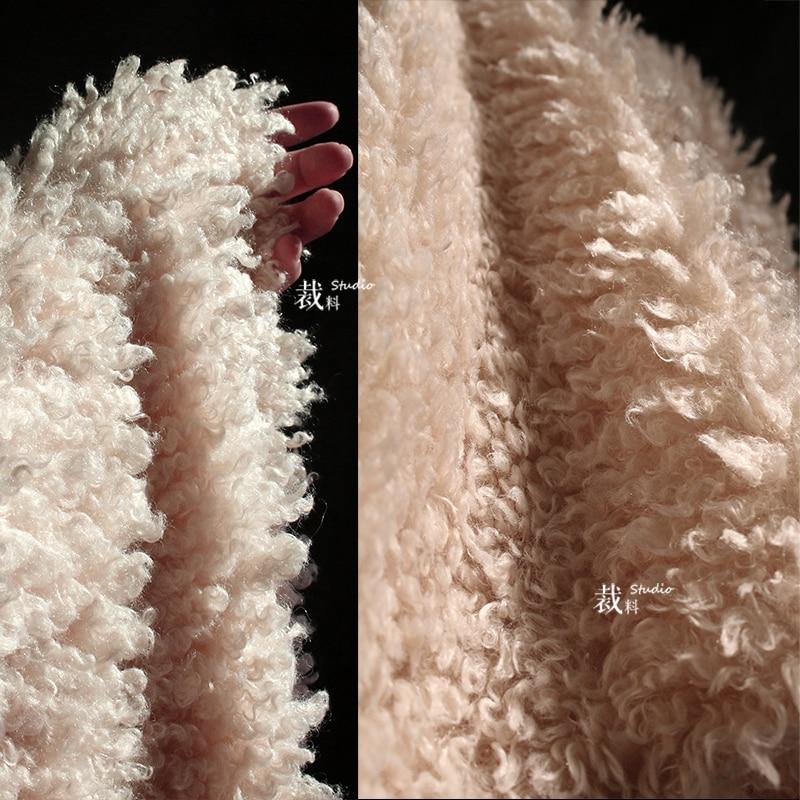 Австралийская имитация овечьей шерсти искусственный завиток искусственный плюш ткань пальто мех дизайнерская ткань для одежды плюшевый м...