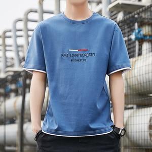 High Quality Fashion Men Short Sleeve T Shirts 2021 New Summer Cotton Tees Round O-Neck Tshirt Homme Shorts M-3XL Tops Clothing