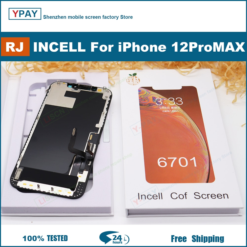 RJ Incell Screen For iPhone X Xs Max 11 12  LCD Display Touch Screen Digitizer Assembly No Dead Pixel Replacement Parts + Gift enlarge