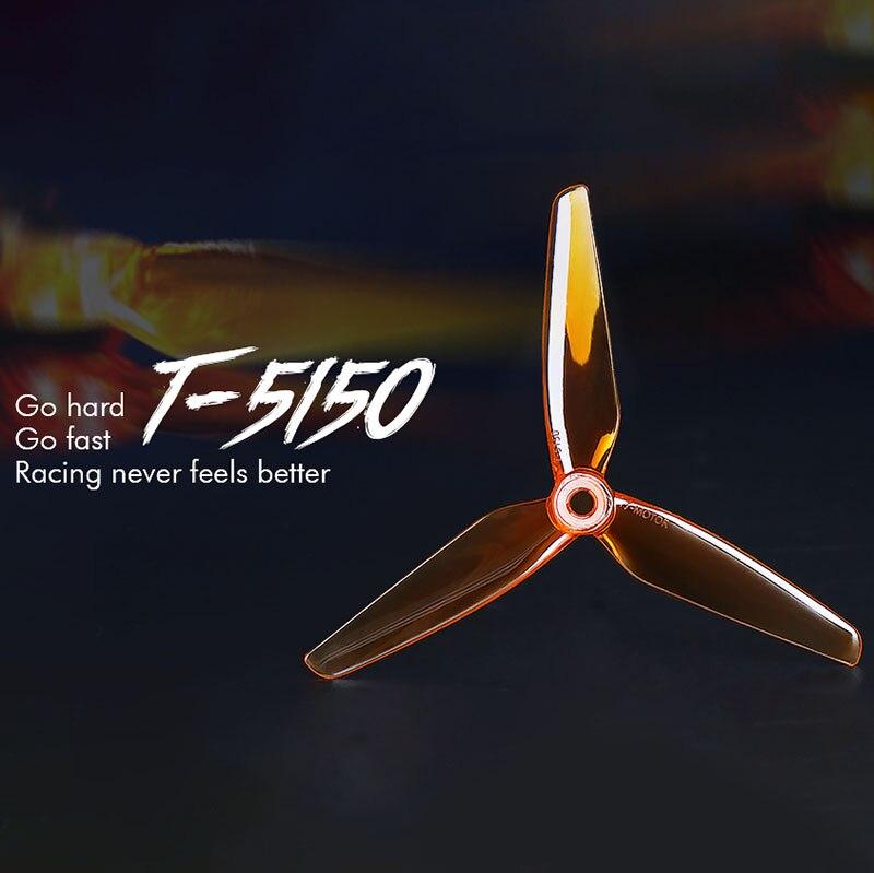 10 pces/5 pairs t-motor t5150 5 Polegada 3 hélice de lâmina pc fpv adereços cw ccw fpv hélice para popo motor f40 pro iii/f60 pro iii