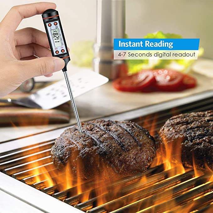 Kitchen Digital BBQ Food Thermometer Meat Cake Candy Fry Grill Dinning Household Cooking Thermometer Gauge Oven Thermometer Tool