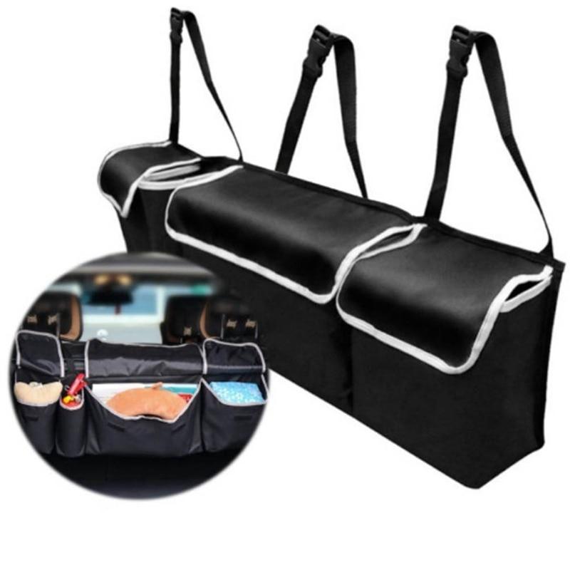 1 Pc Oxford Cloth SUV Trunk Storage Bag Multi-purpose Car Seat Back Hanging Bag Car Foldable Sundries Storage