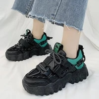women chunky sneakers new mesh breathable comfortable platform shoes female fashion all match black cool casual shoes mujer