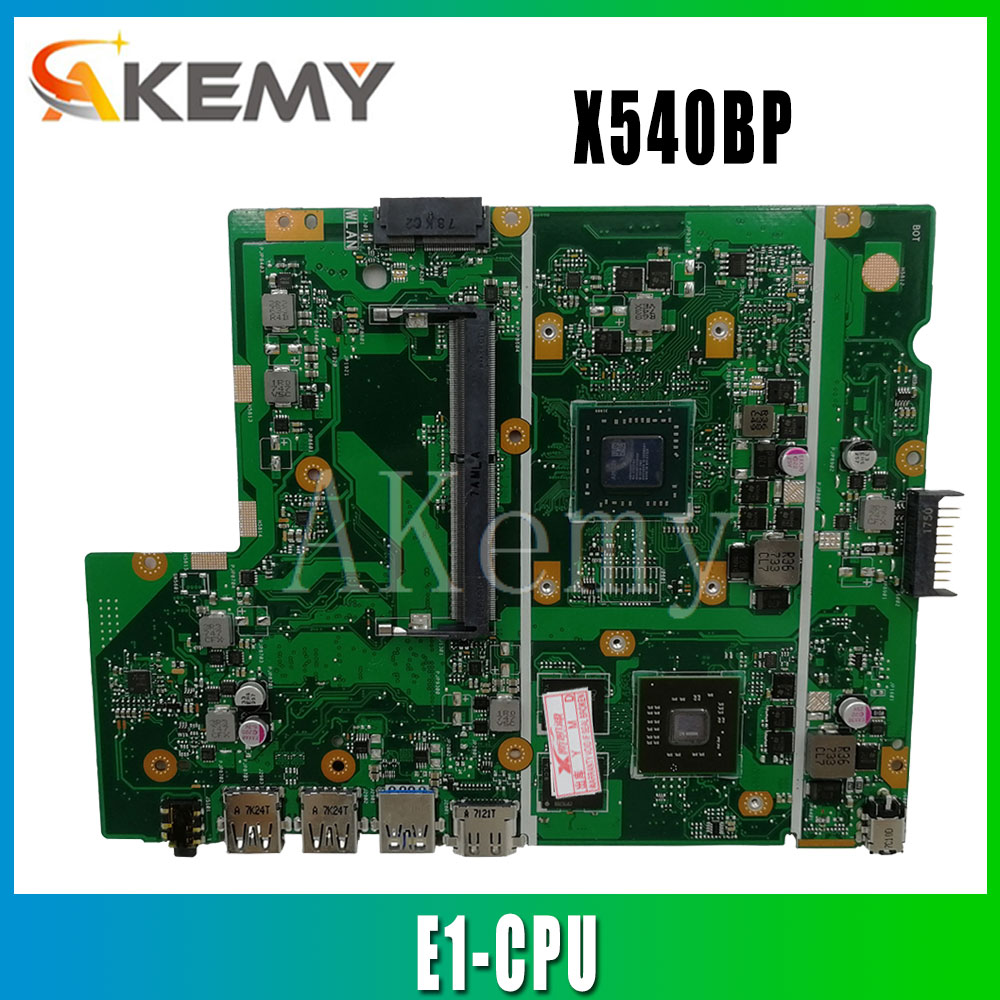 Akemy ل ASUS X540BP X540B Laotop اللوحة الرئيسية X540BP اللوحة مع E1/E2 -CPU