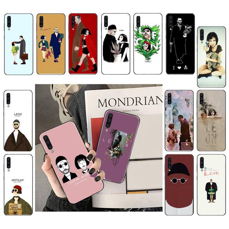 Leon Matilda Натали Портман фильм плакат чехол для телефона Samsung Galaxy A7 A50 51 A70 A80 A40 A20 A30 A8 A6 A8 Plus A9 A71 Бамперы      АлиЭкспресс