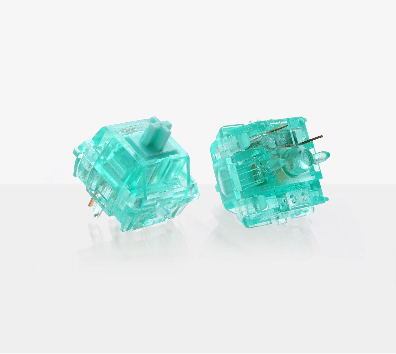 Gateron الفيروز Tealios التبديل 5 دبوس تيفاني الأزرق الخطي لوحة المفاتيح الميكانيكية تخصيص