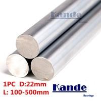 Kande Bearings 1pc d:22mm 230mm 3D printer rod shaft 22mm linear shaft 100mm chrome plated rod shaft CNC parts 100-550mm